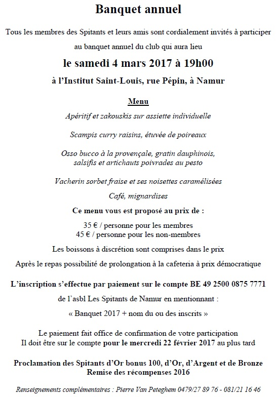 Banquet 2017